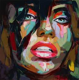 $enCountryForm.capitalKeyWord Australia - Hand painted Palette knife painting portrait Palette knife Francoise Nielly Face Abstract Oil painting Impasto figure on canvas Decor FN86