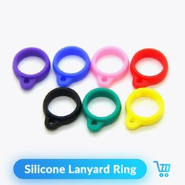 Atomizer For Ce4 Ce5 Ce6 Evod Australia - E-cigarette silicone Lanyard Ring necklace ring For CE4 CE5 CE6 T2 T3 T3S T4 EVOD Atomizer Silicone Necklace Ring Fit eGo-t eGo-c twist