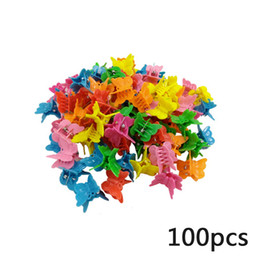 $enCountryForm.capitalKeyWord UK - Hair Clip Hairpins 100PCS Kids Girls Candy Color Hair Pins Butterfly Shell Heart Claw Clips Clamp Pins Accessories