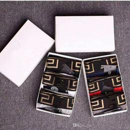 Toptan satış Lüks Erkek İç Giyim Boksörler Mektup Seksi Yumuşak Pamuk Külot Spor Rahat Erkekler Boys Için Underwears Yüksek Kalite Külot 6 Renk 4 Boyutu