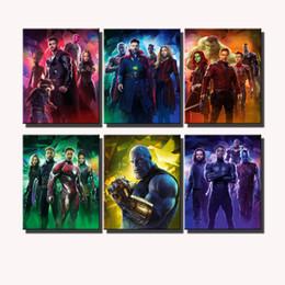 Venta al por mayor de Avengers Infinity War Poster, impresión en lienzo HD de 6 piezas Nueva decoración del hogar, pintura de arte / sin marco / enmarcado