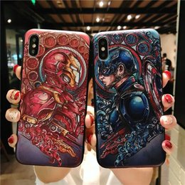 $enCountryForm.capitalKeyWord NZ - Fashion 3D Marvel Angry Embossed Captain America Iron Man Heroes Case for iPhone X XS Max XR 5 5S SE 6 6S 7 8 Plus Cover fundas
