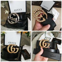 Ring gs online shopping - g Hot Fashion brand men Gg buckle fashion genuine leather designer V belts for men Letter Double H buckle men women beltsGUCCI