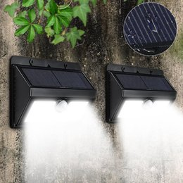 solar powered garden pathway lights 2020 - 45 Led Solar Light Waterproof 2835 Smd Solar Powered Pir Motion Sensor Outdoor Led Garden Light Emergency Pathway Wall L