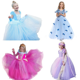 baby cinderella halloween costume Canada - Baby Girl Halloween Rapunzel Princess Costume For Kids Cinderella Christmas Children Dresses For Girls Party Kids Clothes 8 10t J190520