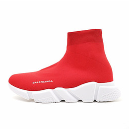 $enCountryForm.capitalKeyWord Australia - Designer Sneakers Speed Trainer Black Red Gypsophila Triple Black Fashion Flat Sock Boots Casual Shoes Speed Trainer Runner With Dust Bag
