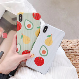 $enCountryForm.capitalKeyWord Australia - Curved Surface Soft Fashion Cartoon Personalized Fruit Mobile Phone Case for iPhone X, Protective Flexible Green White Cover for iPhone XS