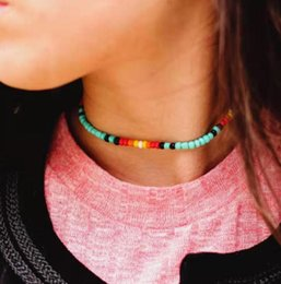 Boho style jewelry online shopping - Boho Colorful Choker Necklace Chain Seed Bead Necklaces Jewelry for Women and Girls styles