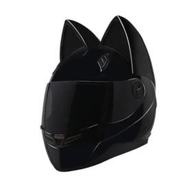 Motorcycle Full Face Helmet Xxl Australia - Brand NITRINOS Black Full Face Motorcycle Helmet Personality Cat Helmet Fashion Motorbike Helmet Moto Capacete M  L XL  XXL