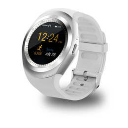 Bluetooth Smart Watch Sim Australia - Y1 Smartwatch Bluetooth Smart Watch Reloj Relogio 2G GSM SIM App Sync Mp3 for Apple for iPhone for Xiaomi Android Phones