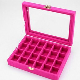 $enCountryForm.capitalKeyWord UK - 12 Grids Velvet Jewelry Box Rings Earrings Necklaces Makeup Holder Case Organizer Women Jewelery Storage Size:20*15*4.8cm(L*W*H)