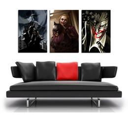 $enCountryForm.capitalKeyWord Australia - Batman Joker ,3 Pieces Home Decor HD Printed Modern Art Painting on Canvas  Unframed Framed