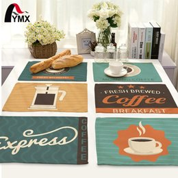 wholesale polyester napkin Australia - Simple Cartoon Style Table Napkins for Wedding Polyester Table Napkin Cloth Western Dinner Mat Europe Decor Coffee Mat