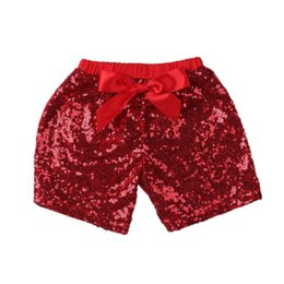 $enCountryForm.capitalKeyWord UK - Baby Girls Sequins Shorts Pants Casual Pants Fashion Infant Glitter Bling Dance Boutique Bow Princess Shorts Kids Clothes