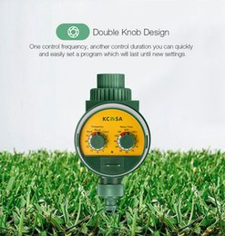 steel induction Canada - KCASA KC-JK666 Garden Automatic Watering Timer Ball Valve Rainfall Monitoring Induction Timer