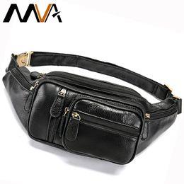 $enCountryForm.capitalKeyWord Australia - Mva Multi-function Money Belt Bag Men's Waists Bags Genuine Leather Fanny Pack Phone Waist Pouch Bags Messenger Bag Men 8336 J190521
