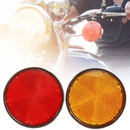 Bolt for Bike online shopping - 2Pcs inch Universal Bolt Number Plate Round Reflector For Motorcycle Atv Scooter Dirt Bike Red Orange Color