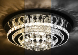 Modern Lantern Lamp NZ - Circular crystal lamp LED bedroom ceiling lamp modern simple warm personality creative dining room lamps and lanterns LLFA