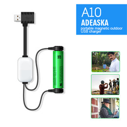 $enCountryForm.capitalKeyWord NZ - New ADEASKA A10 18650 Battery Charger for Li-ion Batteries Multifunction Magnetic USB Charger Mini Charging Discharging Power Bank DHL