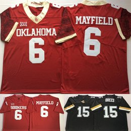 Discount oklahoma football jersey - Mens 2018 NCAA Oklahoma Sooners 6 Baker  Mayfield Purdue Boilermakers 15 d898faa89