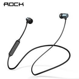 $enCountryForm.capitalKeyWord UK - Rock Bluetooth Earphones In-ear Magnetic Neckband Headphone Sweat Waterproof For Running Budget Wireless Sleep Headsets J190506