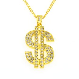 $enCountryForm.capitalKeyWord Australia - Hip-hop night club exaggerates golden chain US dollar symbol golden necklace fashion personality pendant for men and women Small K1188