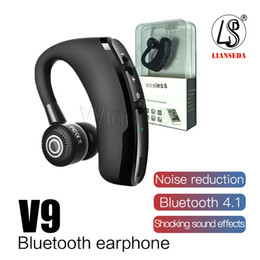business bluetooth headset 2019 - high quality V9 Bluetooth Headphones CSR 4.1 Business Stereo Wireless Earphones Earbuds Headset With Mic Voice Control w