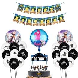 29 pcs Dos Desenhos Animados Figura Decorações de Aniversário Crianças Menino Favor Balões De Hélio Conjunto Bandeira Bolo Topper Quinzena Fontes Do Partido Q190524 venda por atacado