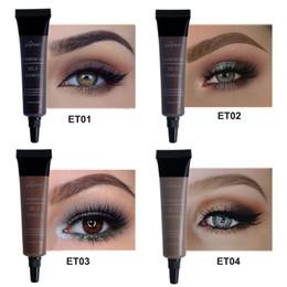 $enCountryForm.capitalKeyWord Australia - DHL Free Eyebrow Gel 4 Color 3D Silk Fiber For Eyelash Mascara Long-lasting Waterproof Sweat Proof Eye Brow Best Makeup Dye Cream Tint