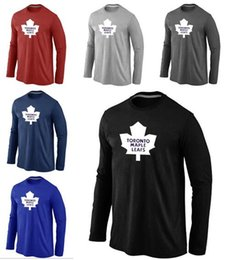styling t shirt jersey NZ - 2019 Men Women Youth Hot Style Maple Leafs Tall Legend Performance Long Sleeve Red And Black Blue T-Shirt