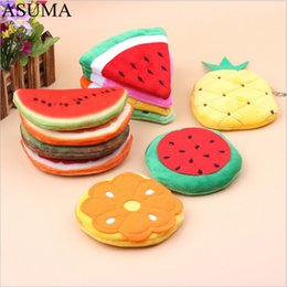 korean children purses Australia - 2019 Korean Cute Coin Purse Kids Small Wallet Girls Money Bag Mini Fruit Change Purse Key Chain Bags Card Holder Children Gifts