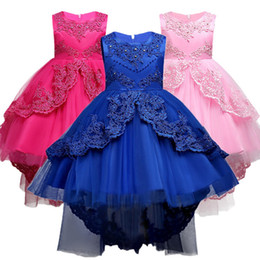 Dresses for 14 year girls online shopping - Summer Kids Formal For Girls Flower Pageant Birthday Party Princess Dress Girl Clothes Years Q190522