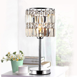 $enCountryForm.capitalKeyWord Australia - Crystal Table Lamp Bedside Lamps Crystal Bedroom Bedside Lamp Luxury Home Decoration Lustres De Cristal AC90-260V