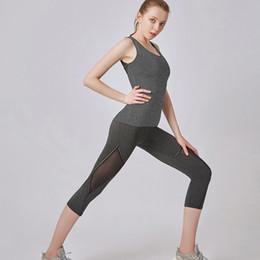 $enCountryForm.capitalKeyWord Australia - Women' Capris Soft Wide Waist band Running Yoga Pants High waist tight stretch running yoga bodywear Calf-Length Pants New A3052