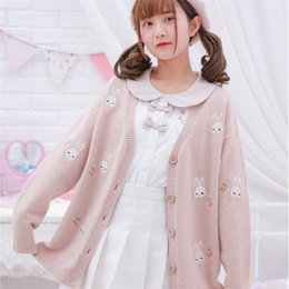 Women's Clothing Sweaters Women Knitted Cardigan Coat Jk Schoolgirl Uniforms V-neck Long Sleeve Crochet Knit Sweater Coat Japanese Cosplay Cardigan Femme