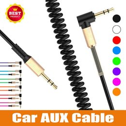 $enCountryForm.capitalKeyWord Australia - 3.5mm Male to Male Audio Cable Flexible Spring Elbow 1.8M Aux Line For Computer Laptop TV DVD Amplifier Speaker CD Player