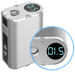 display variable UK - 6 Colors Mini 10W Battery 1050mAh Ultra Compact VV Box Mod Variable Voltage OLED Screen Display With 510 battery Connector E Cigarettes