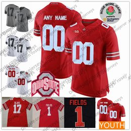 d9e3e2764d8 Customize Ohio State Buckeyes  1 Justin Fields Jerseys Joey Bosa Martell  Olave McLaurin Hill 2019 Rose Bowl white red black Men Youth Kid