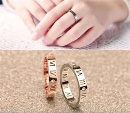 $enCountryForm.capitalKeyWord Australia - Korean version of 18K rose gold Roman numeral diamond ring men and women couple tail ring ring jewelry wholesale