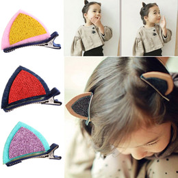 Hair Clip Baby Kids Australia - New Kids Hair Accessories Lovely Baby Girls Cat Ears Hairpins Sequins Hair Clip