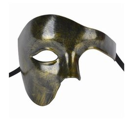 $enCountryForm.capitalKeyWord Australia - FunPa Venetion Mens Party Mask Half Face Phantom Of the Opera Mask Handsome Halloween Mardi Gras Halloween Masquerade Mask GB1020