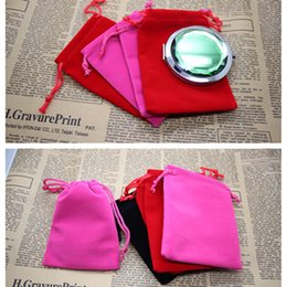 Discount sport pack string bags Makeup Mirror Bag Velvet Pouches Jewelry Packaging Display Drawstring Packing Gift Bags & Pouches Fast Shipping F2692
