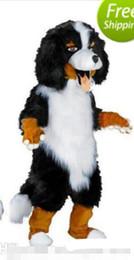 $enCountryForm.capitalKeyWord Australia - 2019Fast design Custom White & Black Sheep Dog Mascot Costume Cartoon Character Fancy Dress for party supply Adult Size