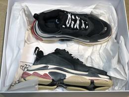 Vente en gros 2018 Nouvelle Arrivée Multi De Luxe Triple S Designer Sneaker Chaussures Bas Semelles Combinées Bottes Hommes Femmes Chaussures Top Qualité Sports Casual Chaussure