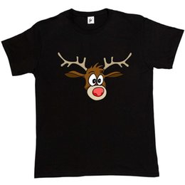 cheap t shirts wholesale purple UK - Close up Of Rudolph the Red Nose Reindeer Mens T-Shirt summer o neck tee, free shipping cheap tee,2019 hot tees NEW ARRIVAL tees