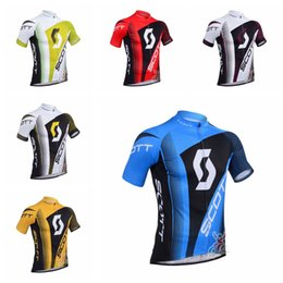 Clothes Worn Mountains Australia - SCOTT team custom made Cycling Short Sleeves jersey Summer men's comfortable breathable wear-resistant outdoor mountain bike clothing S