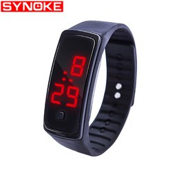 silicone kids watch bracelet Australia - SYNOKE Men Women Casual Sports Bracelet Watches Date LED Electronic Digital Candy Color Silicone Wrist Watch for Children Kids