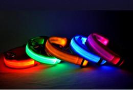 $enCountryForm.capitalKeyWord Australia - NEW Nylon LED Pet Dog Collar,Night Safety Flashing Glow In The Dark Dog Leash,Dogs Luminous Fluorescent Collars Pet Supplies WL429