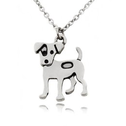 $enCountryForm.capitalKeyWord Australia - Cute Jack Russell Terrier Dog Charms Pendant Men Necklace Collar Stainless Steel Chain Boho Statement Necklaces For Women Girls Jewelry