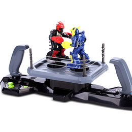 Silverlit Double Boxing Robot Boys Boxing Competition K.O. Robot Toy Parent-child Interactive Intelligent Robot Kids Boys Festival Gifts 06 on Sale